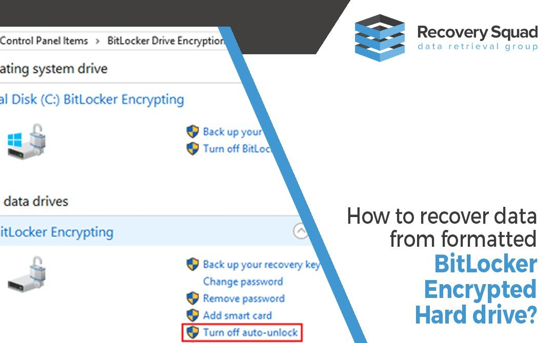 How to Recover data from formatted bitLocker Encrypted Hard drive